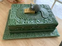 Cheese Tray Mouse with Lid Green - Sur La Table - Made in Portugal