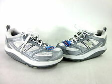 SKECHERS WOMEN'S SHAPE-UP SNEAKER SLVR/WT LTHR MISMATCHED US SZ LFT 8.5/ RT 9 M