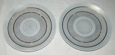 Sascha Brastoff Roman Coin TWO 11 inch Dinner Plates