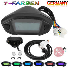 Universal 7-Farbe Digital LCD Motorrad Tachometer Kilometerzähler Drehzahlmesser