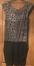 Warehouse leopard print Black/taupe Dress Size 14