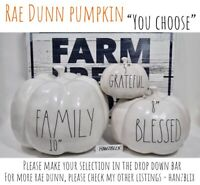 "Rae Dunn HAPPY FALL Y'ALL BLESSED FAMILY BOO Pumpkin Thanksgiving ""U CHOOSE""'19"