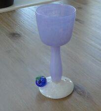 WEINGLAS DESIGN JAN STIEVENS GLASHYTTA SWEDEN ART GLASS GLASFRUCHT BLUEBERRY