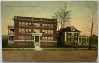 BLOOMSBURG PA Bloomsburg Hospital c1913 Vintage Street Scene Photo Postcard