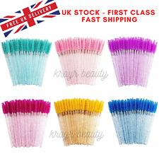 Glitter Eyelash Brush Disposable Lash Extension Wand Mascara Spoolers UK STOCK