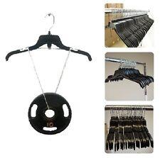 "120 Black Plastic Hangers Adult Clothing Clothes Garment Dress Retail Hanger 17"""