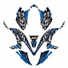 KFX 450R graphics decal kit for Kawasaki Quad #2500 Blue