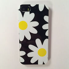 Daisy Flowers Floral White Black Cute Soft Case Cover For Various Mobile Phones