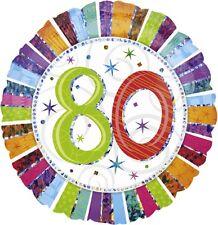 Zahlengeburtstag 80 Geburtstag Disco Party Luftballons Deko Dekoration bunt