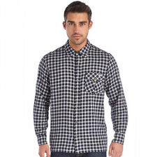 Cotton Blend Long Sleeve Button-Front Casual Shirts for Men