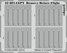 EDUARD 1/32 AIRCRAFT- REMOVE BEFORE FLIGHT FABRIC-TYPE (PAINTED) | 32807