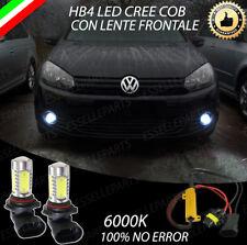 COPPIA LAMPADE FENDINEBBIA HB4 LED CREE COB CANBUS VW GOLF 6 VI 100% NO ERROR