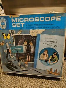 Sears Golden Science Library Series Microscope Set 3 Turret Precision