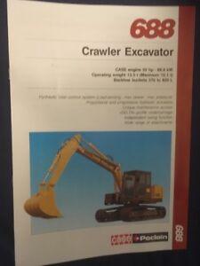 Case Poclain 688 Crawler Excavator Brochure