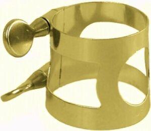 Carmichael Alto Saxophone Ligature - Gold Lacquer Plated Ligature