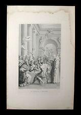 incisione 1800 CENA DI S.GREGORIO MAGNO