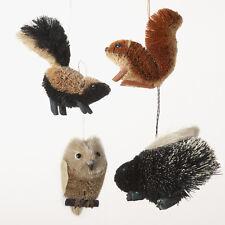 Kurt Adler Buri Woodland Animal Christmas Ornaments 4 Assorted