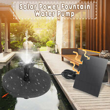 Solar Panel Power Water Pump Floating Garden Pool Pond Aquarium Fountain  #@NE