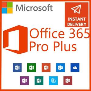 🔑 MICROSOFT®Office 365 ✅ 2019 ✅ Pro Plus 🔑  User Account Lifetime ✅ 5 PCs + 5T