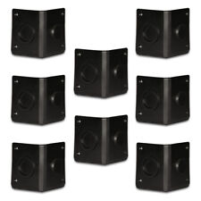 Goldwood Sound GC-402 Black ABS Plastic Cabinet Corners Set of 8 Stackable