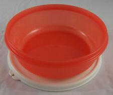 Tupperware Clarissa Schüssel 1 l mit Deckel Rot / Beige Weiß Neu