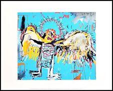 Jean Michel Basquiat Untitled Fallen Angel Poster Kunstdruck im Rahmen 36x28cm