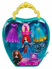 Disney Princess MagiClip MERIDA, Fashion Bag With 3 Dress clips- FREE SHIPPING