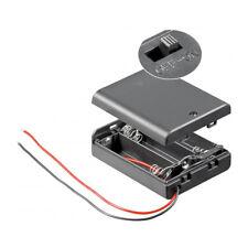 Batteriehalter für 3x Mignon AA Akkuhalter Batteriefach mit Schalter Ein Aus