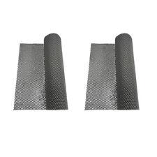 2Pcs Gray Foam Rubber Anti-Slip Shelf Drawer Liner Mat for Kitchen Cupboard