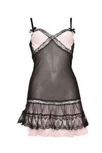 Agent Provocateur Womens Ruffle Design Slip Solid Black Size AP 3