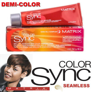 MATRIX Color Sync Seamless, DEMI-PERMANENT HAIR COLOR 2oz each Ammonia-Free