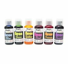 Magic Colours Neon Gel Paste Food Colours Cake Decorating Food Colouring Dyes