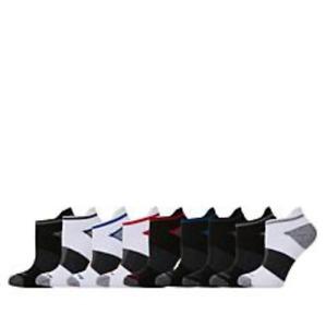 Copper Fit Fresh Touch Men's 9-pack Ankle Socks in Black/White (HSN 649266)