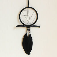 Modern Black Handmade Dream Catcher With Feather Wall Hanging Decor Car Ornament