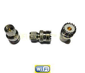 5xRF ADAPTER MINI UHF MALE TO UHF FEMALE PL259 KENWOOD ANTENNA CABLE TO MOTOROLA