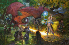 RARE!  EVERQUEST POSTER PRINT  SONY ONLINE DONATO LIMITED EDITION  20X28 INCHES