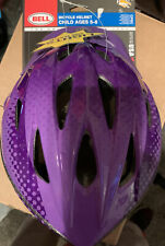 BELL RIVAL Girls True Fit Bicycle Helmet Child 52-56 cm Ages 5-8 W/lights