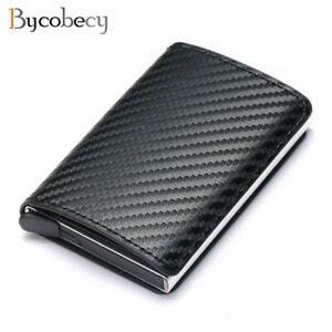 Bycobecy 2020 Credit Card Holder Wallet Men Women Metal RFID Vintage Aluminium