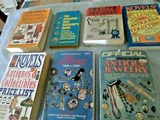 Vintage Reference Guide Books Lot for 7 Antiques/Collectibles/Jewelry