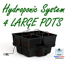 PLATINIUM HYDRO PRO 60 4 LARGE POT DRIP HYDROPONIC SYSTEM + WATER PUMP KIT