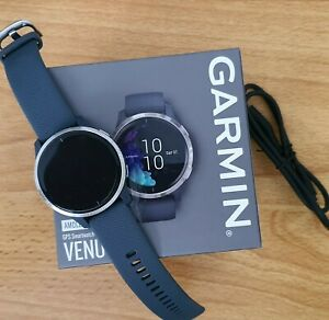 Garmin Venu GPS Running Watch - Black with Stainless Steel Bezel