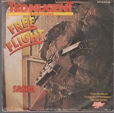 "7"" Ted Nugent & Amboy Dukes Free Flight / Sasha 70`s Warner Discret"