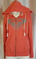 ROXY Full Zip Hoodie Sweater Pink/Melon Womens Size Small