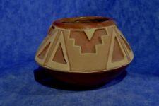 "San Juan Redware Carved Pottery Jar by Tomasita Montoya 6 1/2"" x 4 1/4"" c.1940"