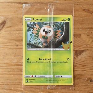 POKEMON ALOLA FIRST PARTNERS PROMO CARDS JUMBO 25TH ANNIVERSARY SEALED ROWLET