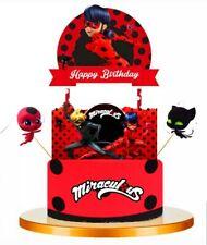 Miraculous Ladybug Birthday Cake Topper Cupcake Toppers Decoration Picks