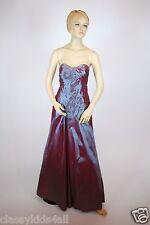 Lady Taffeta Strapless Long Prom Formal Evening Debut Metallic Boysenberry Dress
