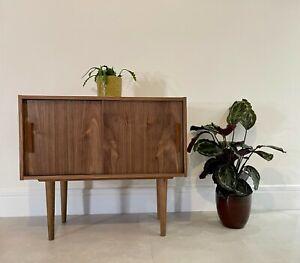Mid Century Style Jupiter Walnut Handmade Sideboard / Cupboard