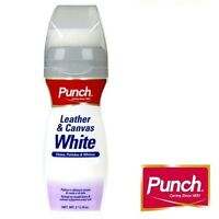 Punch Leather & Canvas Whitener Renovation Leather Polish Trainers Shoes Boots