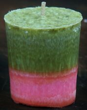2 pk WILDBERRY & VANILLA SILK 40Hr CANDLE GIFT PACK pink & green hippy tie dyed